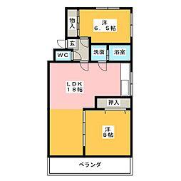 シャロール八事[2階]の間取り