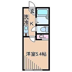 神奈川県横浜市神奈川区斎藤分町の賃貸アパートの間取り