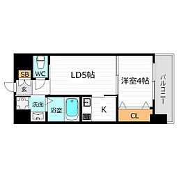 JR大阪環状線 京橋駅 徒歩8分の賃貸マンション 4階1DKの間取り