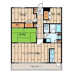 欅ハイム弐番館[1階]の間取り