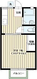 タウンハウス佳芳[202号室]の間取り