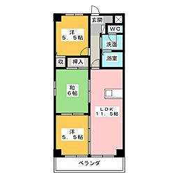 COURTYARD[4階]の間取り