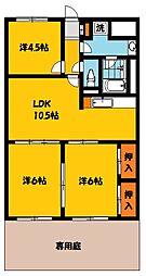 NARABU六番館[102号室]の間取り