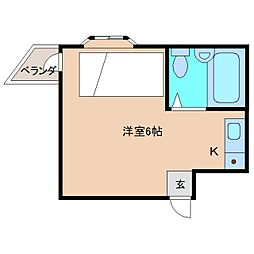 奈良県奈良市帝塚山2丁目の賃貸マンションの間取り