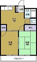 徳屋マンション[2階]の間取り