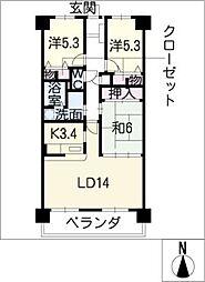 スペリア桑名三番館605号[6階]の間取り