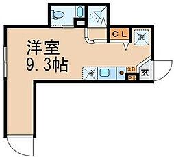 ディアコート池袋[1階]の間取り
