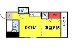 大阪府堺市堺区中之町西2丁の賃貸マンションの間取り
