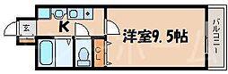 広島県安芸郡府中町大須3丁目の賃貸マンションの間取り