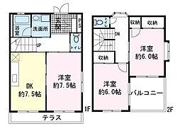 [テラスハウス] 静岡県三島市加茂 の賃貸【/】の間取り