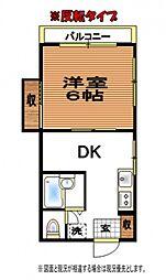 第2葵マンション[3階]の間取り