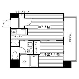 北海道札幌市北区北二十三条西9丁目の賃貸マンションの間取り