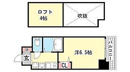 エステムコート神戸県庁前IIIフィエルテ[5階]の間取り
