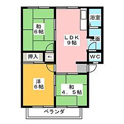サンフラワーW[2階]の間取り