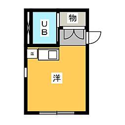 ホシオウビル[2階]の間取り