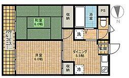 メゾンドセリーズ東館[2階]の間取り