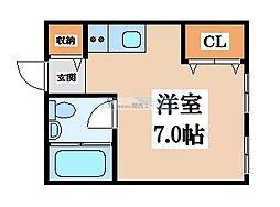 プロシード八戸ノ里[1階]の間取り