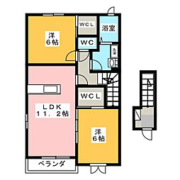 ルミナーレI[2階]の間取り