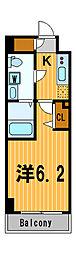 ライジングプレイス川崎二番館[8階]の間取り