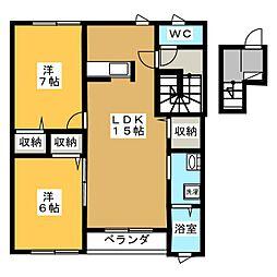 Meiji Garden Court[2階]の間取り