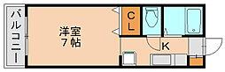 ベルトピアエグゼ福岡[5階]の間取り