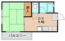 サンフラワー松島II[2階]の間取り