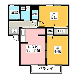LaForet結城 A棟[2階]の間取り