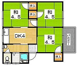 [一戸建] 大阪府枚方市楠葉並木2丁目 の賃貸【/】の間取り