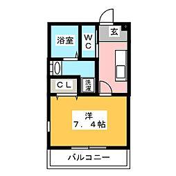 Luminous Kotobuki[1階]の間取り