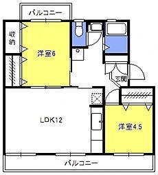 原田マンション[102号室号室]の間取り