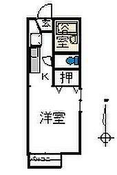 エスポワールII[1階]の間取り