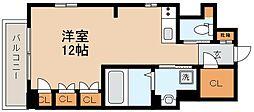 阪神本線 芦屋駅 徒歩9分の賃貸マンション 2階ワンルームの間取り
