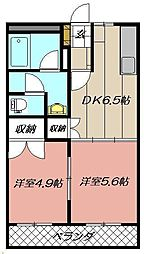 エクシード菊入II[103号室]の間取り