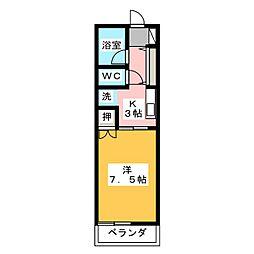 ベアバレー松井[2階]の間取り