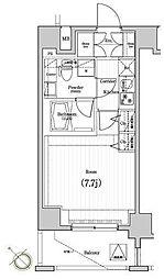 プレミアムキューブジー駒沢大学[8階]の間取り