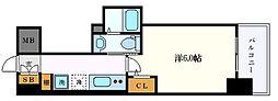 名古屋市営東山線 千種駅 徒歩11分の賃貸アパート 7階1Kの間取り