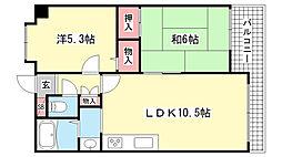 ダンディライオン御影5[5階]の間取り