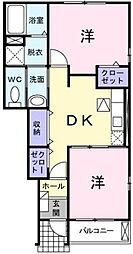 ロングロード[1階]の間取り