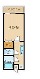 兵庫県尼崎市汐町の賃貸アパートの間取り