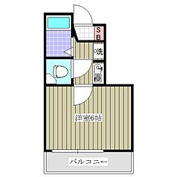 シャルマンフジ  熊谷 壱 (初期費用5万円物件)[206号室]の間取り