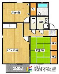 ピュアドームII[2階]の間取り