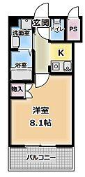 サンフレンドユーPartI[3階]の間取り