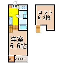 Crescita六番町 (クレシタロクバンチョウ)[2階]の間取り