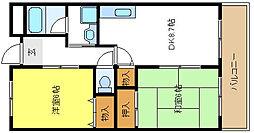 サニーコートナカイ[2階]の間取り