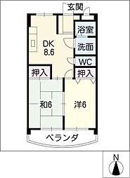メゾンラフィネ[2階]の間取り