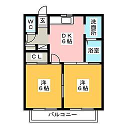 ヴィブレA・B[2階]の間取り