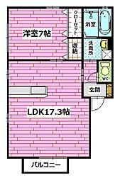 セジュール宮川 Ⅱ[2階]の間取り