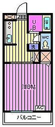 リバーサイドハイツ2[2階]の間取り