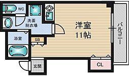 リードハイツ東三国A棟[2階]の間取り