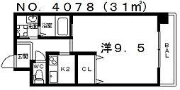 レバンガ阿倍野[4階]の間取り
